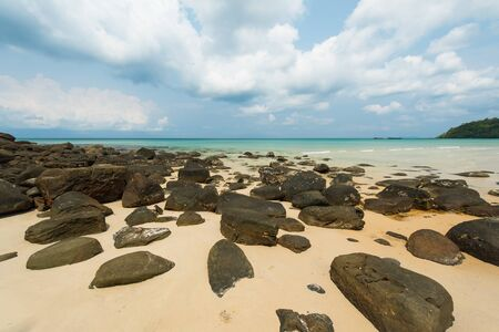 kood: Beautiful stone beach at Koh Kood iSland  Thailand Stock Photo