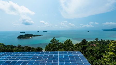 industrail: Solar panel on a habitat rooftop