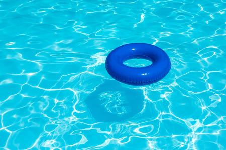 buoy: Blue buoy on water pool