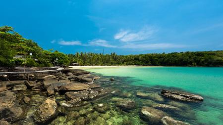 kood: Beautiful stone beach at Koh Kood island, Thailand