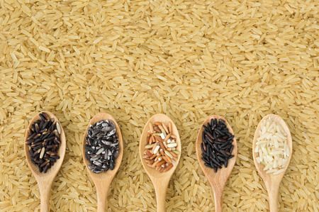 organics: Collection of Thais organics rice for a good health Stock Photo