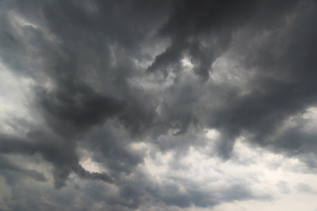 variability: Huge storm clouds and weather variability