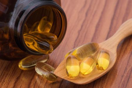 omega3: Close-up fish oil omega3 Stock Photo