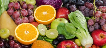 organics: Fresh vegetables and fruits organics for healthy