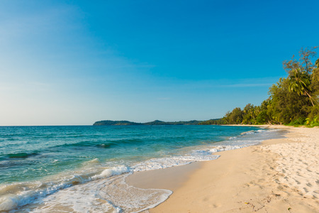 clear day: Beautiful tropical beach landscape at koh kood island,Thailand