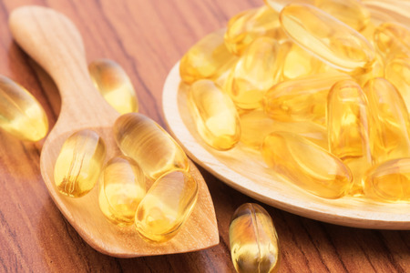 Close-up Fish oil omega3