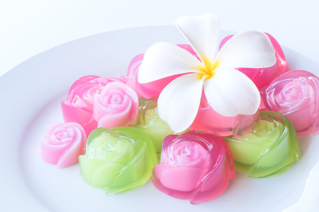 serv: Traditional Thai agar dessert Stock Photo