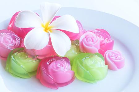 agar: Traditional Thai agar dessert Stock Photo