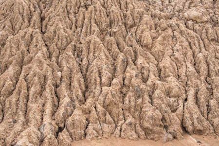 torrid: Soil Erosion Pattern and Textured Stock Photo