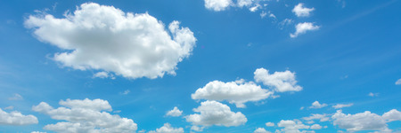 fluffy clouds: Beautiful cloudscape Stock Photo