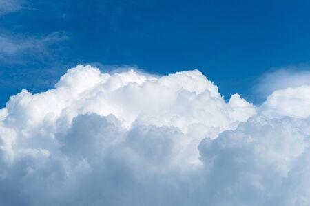 cumulonimbus: Cumulonimbus cloud with blue sky