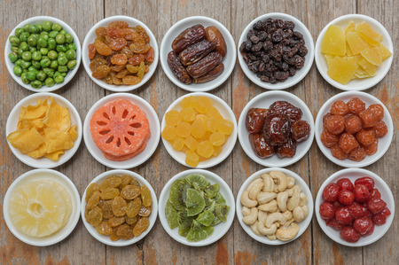 spoilage: Collection of dried fruits for background