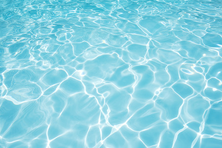 Clean and bright water in swimming pool