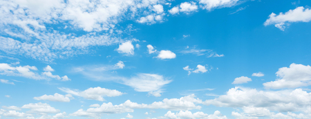 clouds blue sky: Bright sky and white cloud panorama