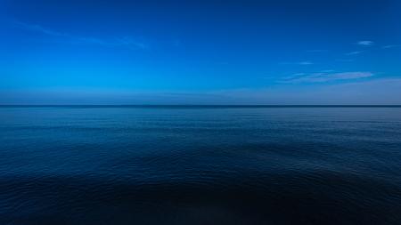 Dark and deep ocean in the winter
