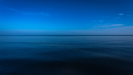 blue sea: Dark and deep ocean in the winter