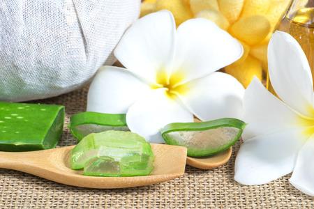 Aloe Vera utiliser dans le spa pour les soins de la peau Banque d'images - 50036160