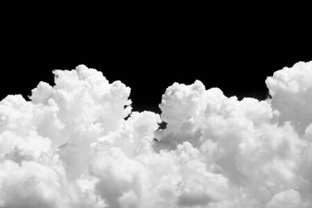 white clouds: White cloud on black background Stock Photo