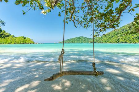 wonderful: Beautiful tropical beach at Surin Island , Thailand Stock Photo
