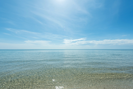 vast: Rippled wave  at the vast  sea and shallow Stock Photo