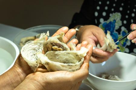 edible: Edible birds nest Stock Photo