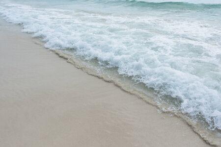 phuket province: Water splash at Phatong beach located Phuket province ,Thailand Stock Photo