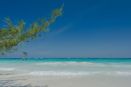 deep blue: The verynice tropica beach and turquoise sea for relaxation