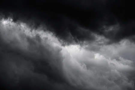 wind dramatic sky: Closeup dark cloudscape befor rainy