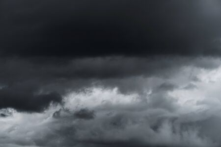 dramatic clouds: Dramatic dark storm clouds befor rainy Stock Photo