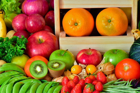 Nutrition Fruits and vegetables for healthy life style , Elegant group fruits and vegetables