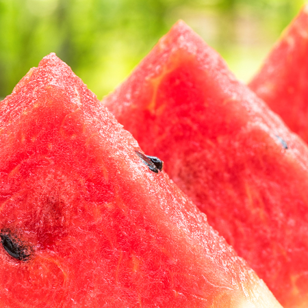 serve: Close Watermelon slice for serve