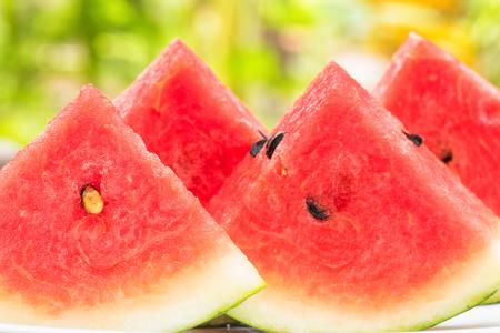 serve: Watermelon slice for serve