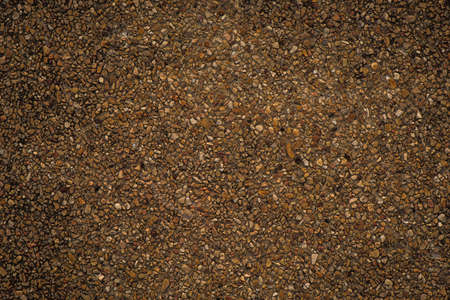 on the surface: Brown Gravel surface wall Stock Photo