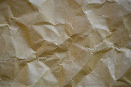 brown paper: Crumpled brown paper texture for background Stock Photo