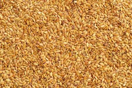 linseed: Golden linseed texture or background Stock Photo