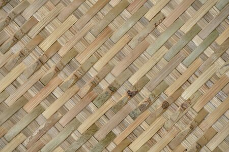 woven: Bamboo woven background Stock Photo