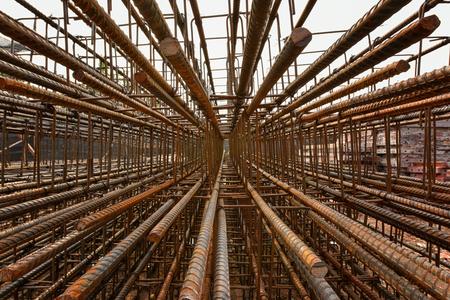 rebar: Steel rebar perspective