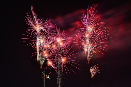 colourful fire: Colourful fire work for background