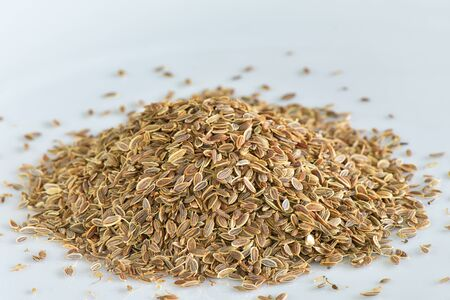 dill seed: Dill seed on white background