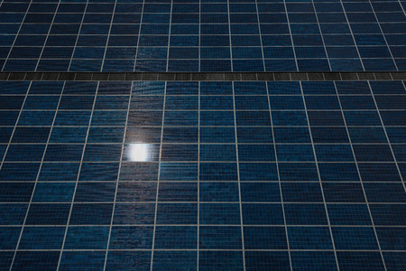 photoelectric: Photoelectric cells of a solar panel background Stock Photo