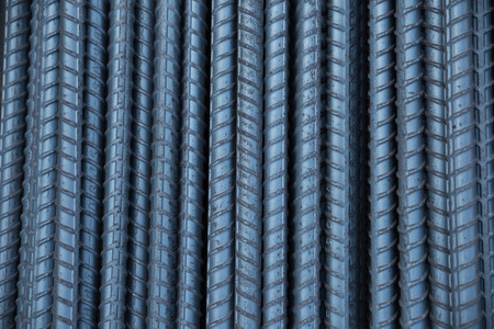 on rebar: Closeup rebar texture for background Stock Photo