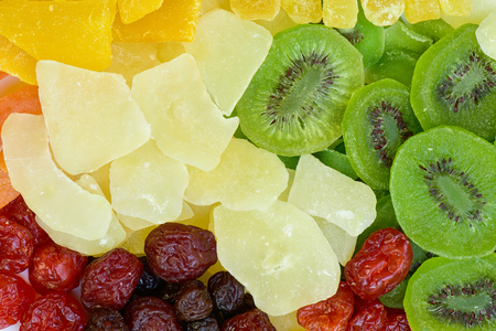 Stack Getrocknete Früchte Hintergrund