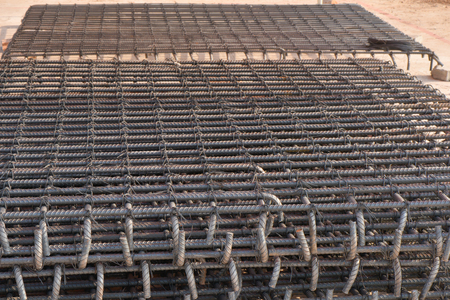 reinforce: Steel rods used in reinforce construction concrete Stock Photo