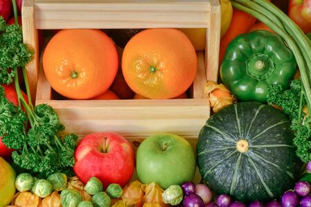 Nutrition Fruits and vegetables for healthy life style