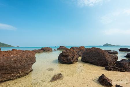 turqoise: Beautiful Stone beach at Koh Kood Island,Thailand