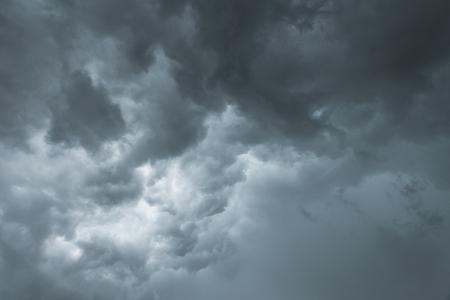 thunderstorm: Dark thunderstorm clouds before rainy Stock Photo