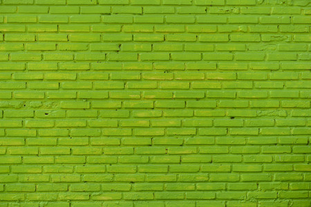 green background: Green brick wall background