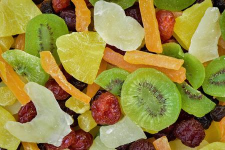 Stapel Getrocknete Früchte Hintergrund