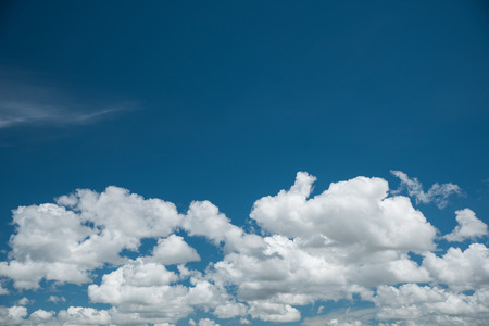 cumulus: Beautiful white cumulus clouds on blue sky Stock Photo