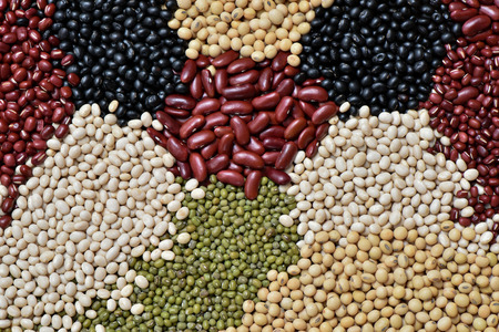 Preparation different legumes organic for cooking